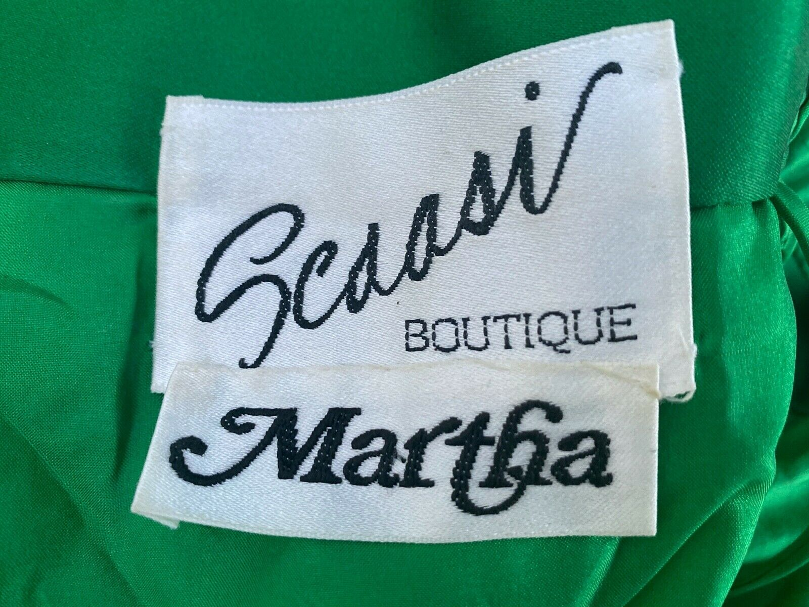 ARNOLD SCAASI BOUTIQUE VINTAGE 80's OFF THE SHOUL… - image 8