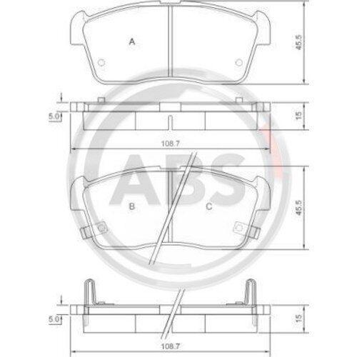 ABS Disques De Frein ø234 plaquettes de frein Set avant Daihatsu Cuore Sirion Trevis