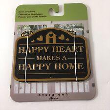 NEW Evergreen Garden Magnetic Plaque Happy Heart Screen Saver Doors & Windows