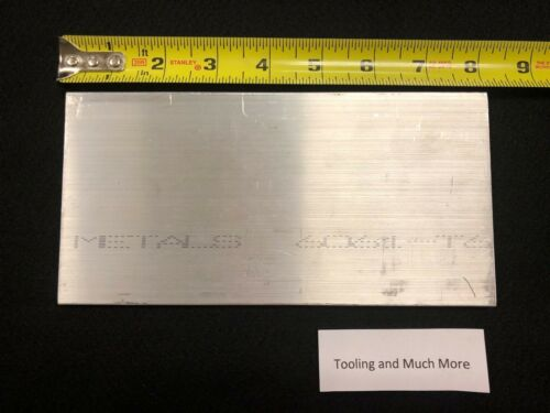 "1//4/"" thk  x 4.00/"" ALUMINUM  Flat Bar plate 6061 8.00/"" long   Lathe or milling"