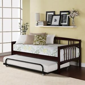 Image Is Loading Single Size Twin Bed Sofa Daybed Lounge Wood