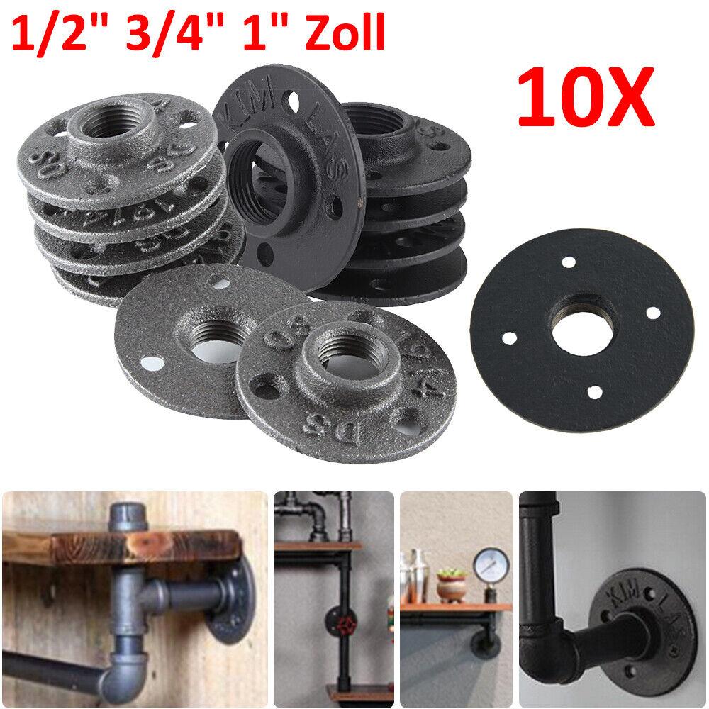 10 × 1//2 1 Zoll Bohrungen Gewindeflansch Rohrflansch Temperguss Heizung Fitting