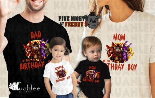 Family Birthday Shirts. Five Nights at Freddy/'s Custom Birthday Party Boy Shirt