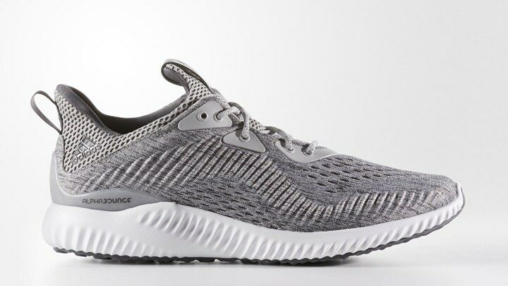 Adidas Men's alphabounce EM Grey/White BW1205 Sz 8 - 13