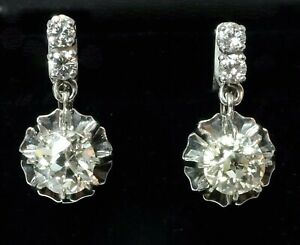 BOUCLES-D-039-OREILLES-OR-GRIS-18K-034-DORMEUSES-034-DIAMANTS-1CARAT80
