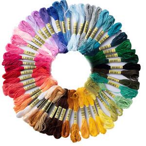 50farben-Stickgarn-Embroidery-Floss-Multifarben-fuer-Stickerei-Basteln