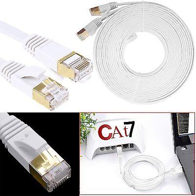 Rj45 Cat7 Flat Rete Ethernet Patch Lan Gigabit Modem Adsl Cavo 1m 20m Uk Lotto- Senza Ritorno