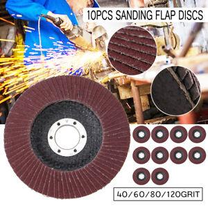 125mm-5-039-039-Flap-Discs-Flex-Sanding-Disc-Grit-40-60-80-100-120-Angle-Grinder-Wheel