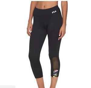0f1eb61c70c18c FILA SPORT Women's Performance Yoga Workout Exercise Capris Leggings ...