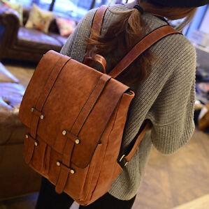 Women-Girl-Synthetic-Leather-Shoulders-School-Bag-Backpack-Travel-Satchel-Work