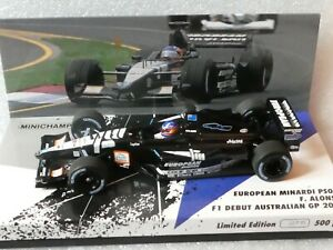 Minichamps-1-43-Fernando-Alonso-Minardi-PS01-F1-Debut-Australian-GP-2001-500-pcs