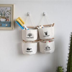 tissu sac poche rangement suspendu stockage organisateur mural porte armoire nf ebay. Black Bedroom Furniture Sets. Home Design Ideas
