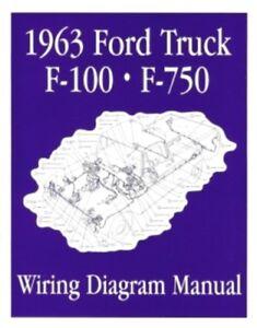 s l300 ford 1963 f100 f750 truck wiring diagram manual 63 ebay