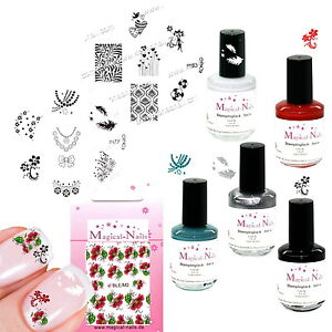 STAMPING-5-vernici-Stencil-m77-m83-Sticker-Anja-Beck-Magical-NAILS