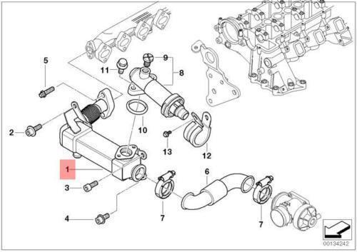 BMW E46 E53 E60 E61 E70 E90 AGR Abgas Kühler 7790065 11717790065 Neu