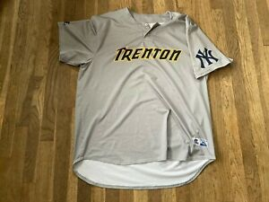 #25 Team Issued Trenton Thunder Road Gray Jersey Yankees
