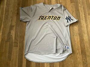 #25 Team Issued Trenton Thunder Road Gray Jersey Yankees