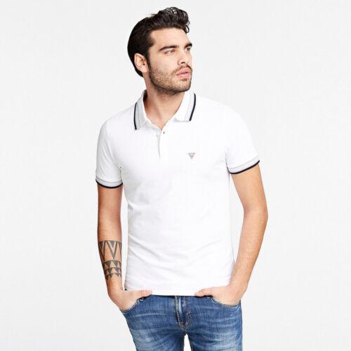 White Guess Grady Mens Polo Shirt