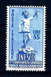 ITALIA-REP-1950-5-conferenza-generale-UNESCO-Firenze-55L-Yvert-557-mnh