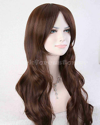 "28"" Charming Women's Long Wavy Curly hair Wig Fashion Cosplay Party Wigs +Cap"