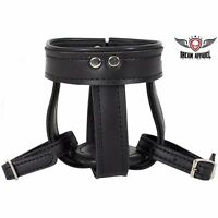Genuine Leather Motorcycle Cup Holder With Leather Straps