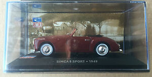 DIE-CAST-034-SIMCA-8-SPORT-1949-034-SIMCA-COLLECTION-SCALA-1-43
