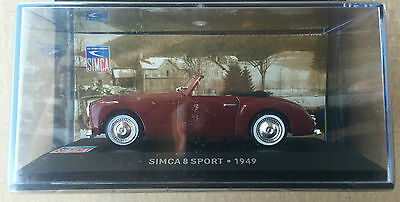 "Bright Die Cast "" Simca 8 Sport Diecast & Toy Vehicles Other Vehicles 1949 "" Simca ColecciÓn Scala 1/43 Good Reputation Over The World"