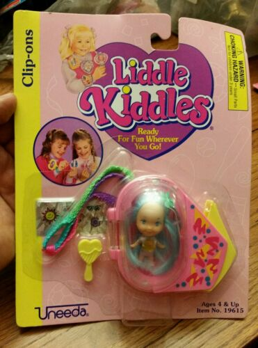 Liddle Kiddles Clipons Doll Uneeda 90s Vintage Blue Hair