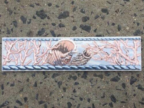 box of 10 Beach Ocean Aquatic Fish Design Decorative Tile Listello Border Tiles