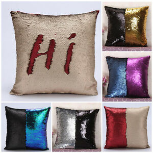 DIY Glitter Sequins Throw Pillows Cases Home Sofa Car Decorative Cushion Covers eBay