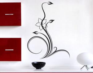 Adesivi Floreali Da Parete.Dettagli Su Adesivi Murali Fiori Stickers Da Parete Adesivo Murale Floreali Da Muro Cucina