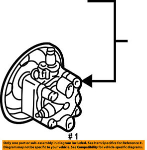 chrysler oem power steering pump mn101149 ebay 2004 Chrysler Sebring Parts Diagram image is loading chrysler oem power steering pump mn101149