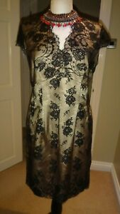 St-Michael-M-amp-S-Stunning-Vintage-Lace-Evening-Dress-UK-12-EU-40