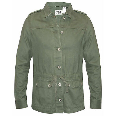 Womens Levi's Green Military Style Jacket -  (S-XL)