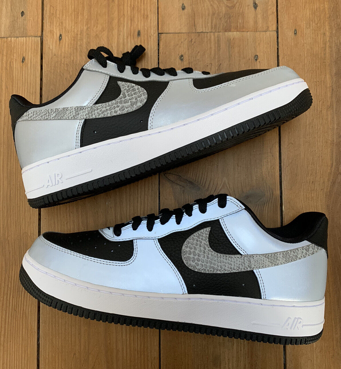 Nike Air Force 1 Low Silver SNAKE UK11 US12 FREE DELIVERY