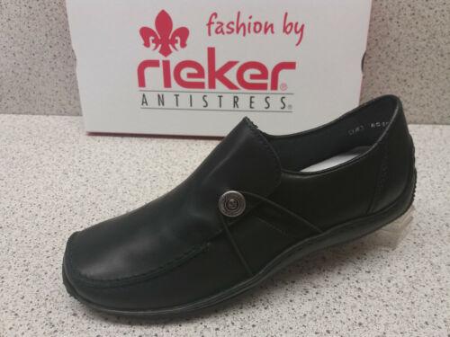 Rieker pelle r519 pantofola ridotto nero ® qqwAF1xZ7