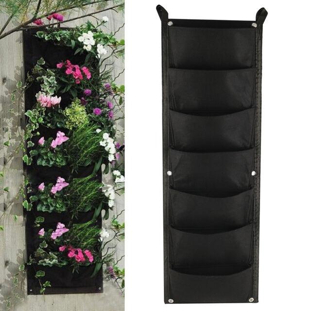 Etonnant 100*30cm 7 Pocket Vertical Garden Planter Wall Mounted Planting Flower Grow  Bag