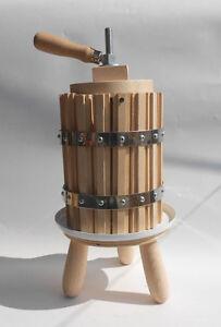 Wooden wine press crusher fruit cider press european 2 for Home wine press