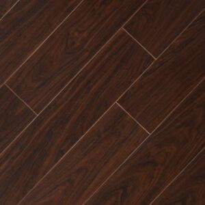 Details About Laminate Flooring Brown Hand Sed 8 Mm Thick X 5 9 16 In Wood Plank Textured