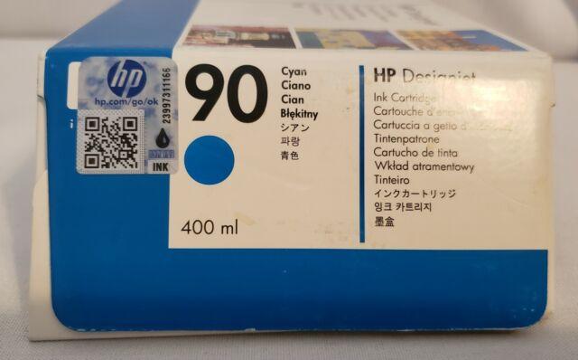 HP Designjet 90 Cyan Ink Cartridge  400ml  4000 4020 4500 4520 EXP 07/2017. DEAL