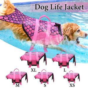Universal-Dog-Life-Jacket-Pet-Swim-Clothing-Float-Coat-Safety-Vest-Mermaid