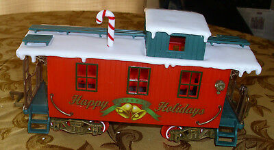 "Other G Scale Gentle Vintage Traine Caboose New Bright Red ""happy Holidays Express"" 12"" X 4"" G Scale"