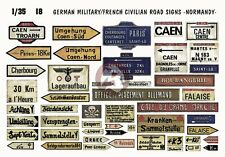 Verlinden 1/35 German Military & French Civilian Road Signs in Normandy WWII 18