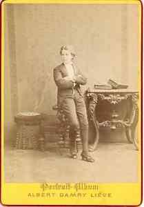 A-Damry-Belgique-Liege-Costumes-de-Theatre-Vintage-albumen-print-Tirage