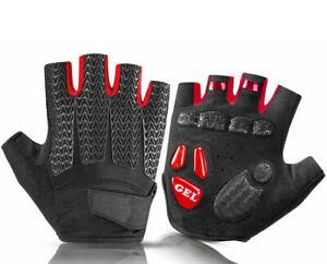Sports-Cycling-Gloves-Bike-Bicycle-Gel-Pad-Half-Finger-MTB-Gloves-For-Women-Men