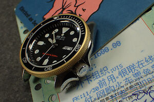Details about THE-ATLAS-ONE GOLD MOD/CUSTOM BEZEL F SEIKO SKX007 7S26-0200  DX S-04-G