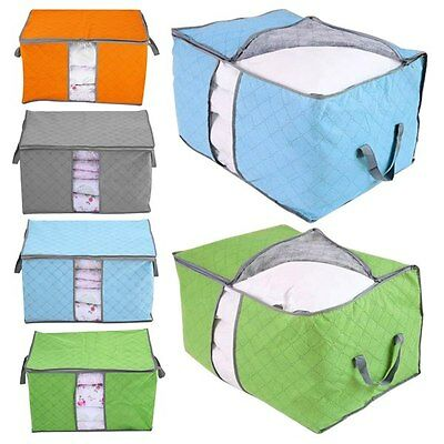 Non-woven Portable Folding Pouch Holder Blanket Quilt Pillow Storage Packet Bag