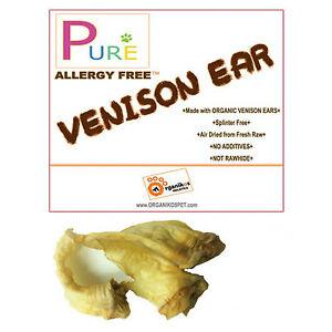 100% ORGANIC VENISON EARS Natural Dog Chew Treat 20pcs./50pcs. FRESH! Exclusive!