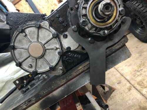 Ford NP205 transfer case rear output support mount bracket custom application