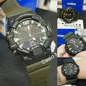 a3aa11d7881 Details about Casio HDC-700-3A Mens Analog-Digital Combination Green Resin  Band Watch New